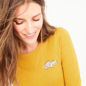 J. Crew Tippie Mustard Tortoise Sweater xl